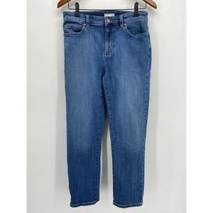 Eileen Fisher Organic Cotton Blend Straight Jeans